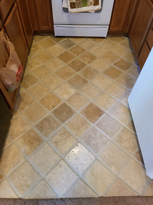 Floor tile grout repair
